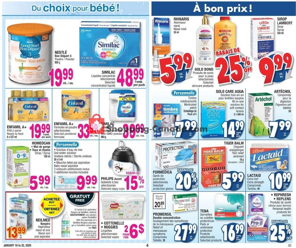 Flyer Jean Coutu Pharmacy Canada - from Thursday January 16, 2020 to Wednesday January 22, 2020