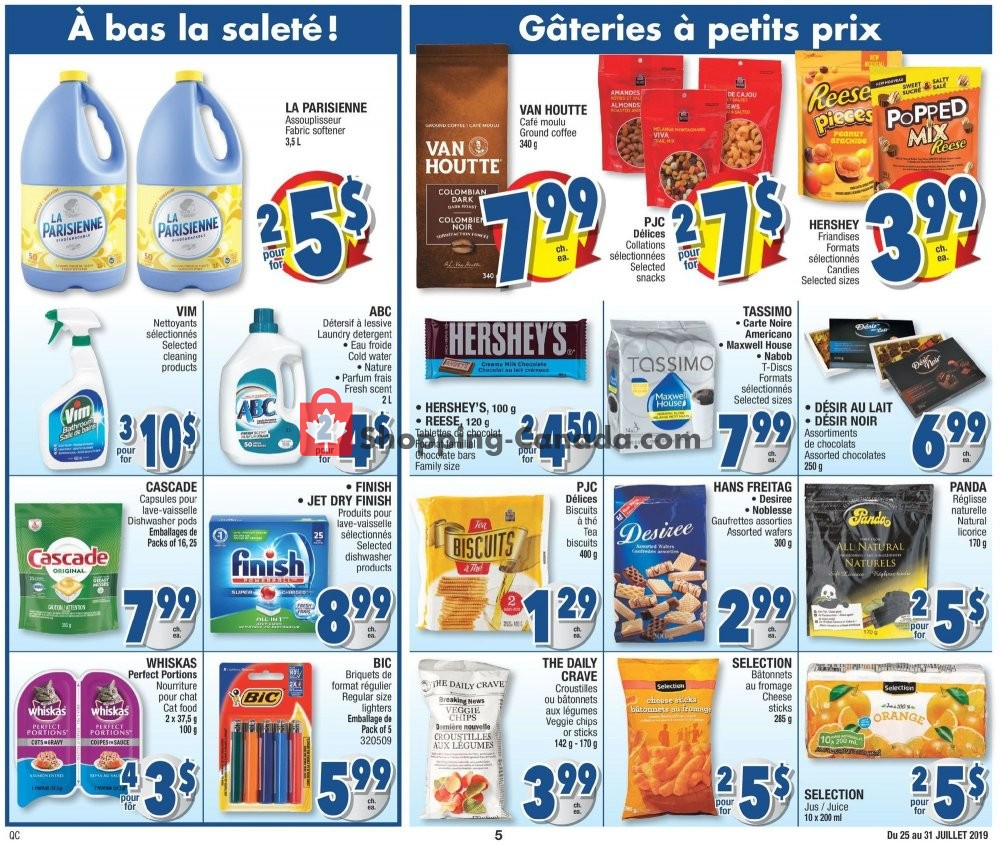 Flyer Jean Coutu Pharmacy Canada - from Thursday July 25, 2019 to Wednesday July 31, 2019