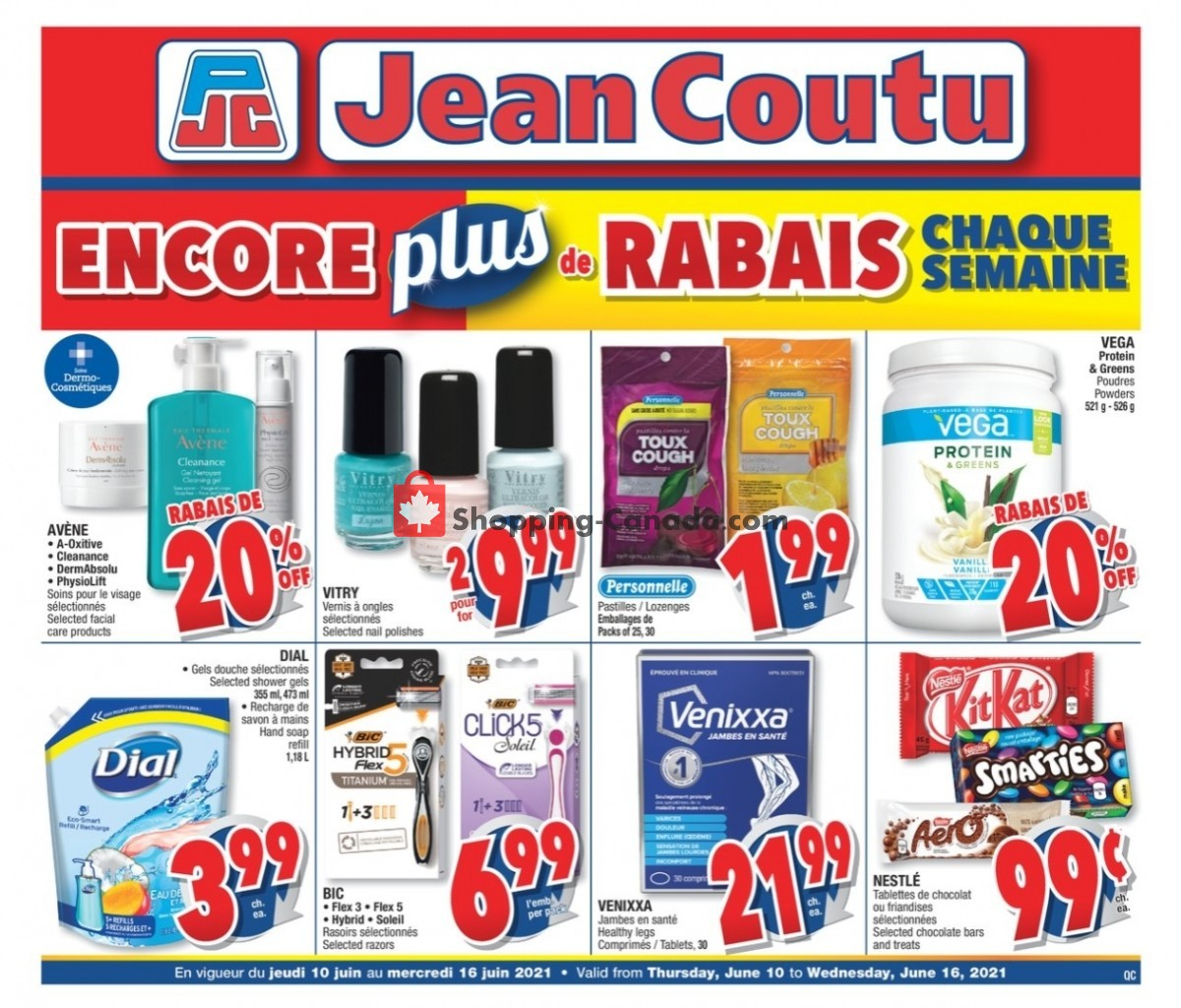 Flyer Jean Coutu Pharmacy Canada - from Thursday June 10, 2021 to Wednesday June 16, 2021