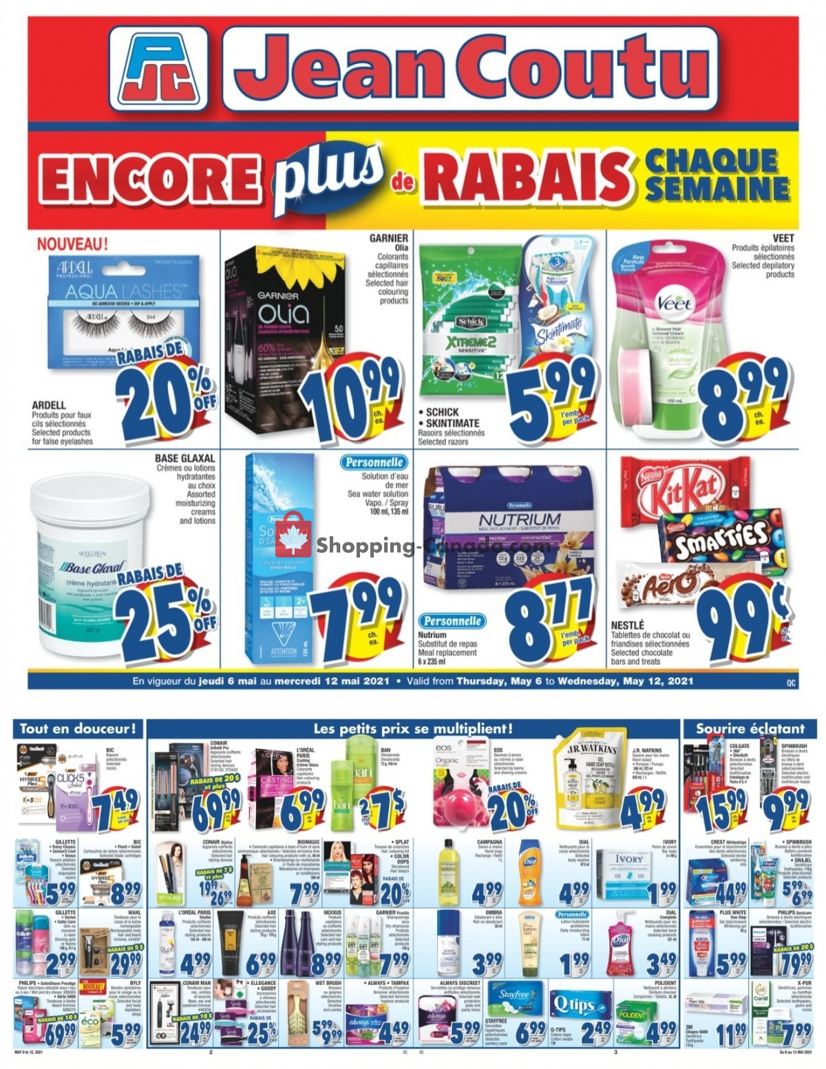 Flyer Jean Coutu Pharmacy Canada - from Thursday May 6, 2021 to Wednesday May 12, 2021