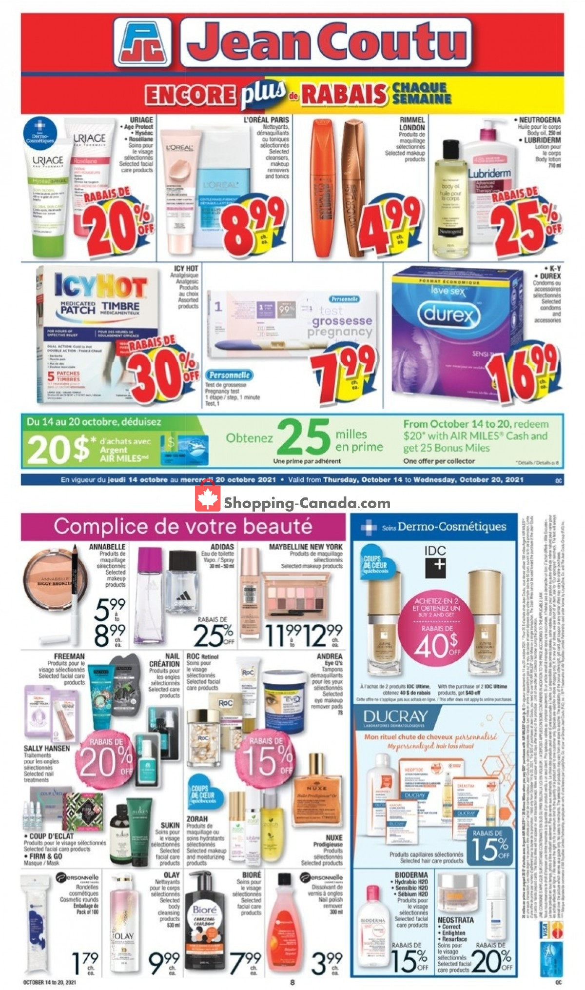 Flyer Jean Coutu Pharmacy Canada - from Thursday October 14, 2021 to Wednesday October 20, 2021