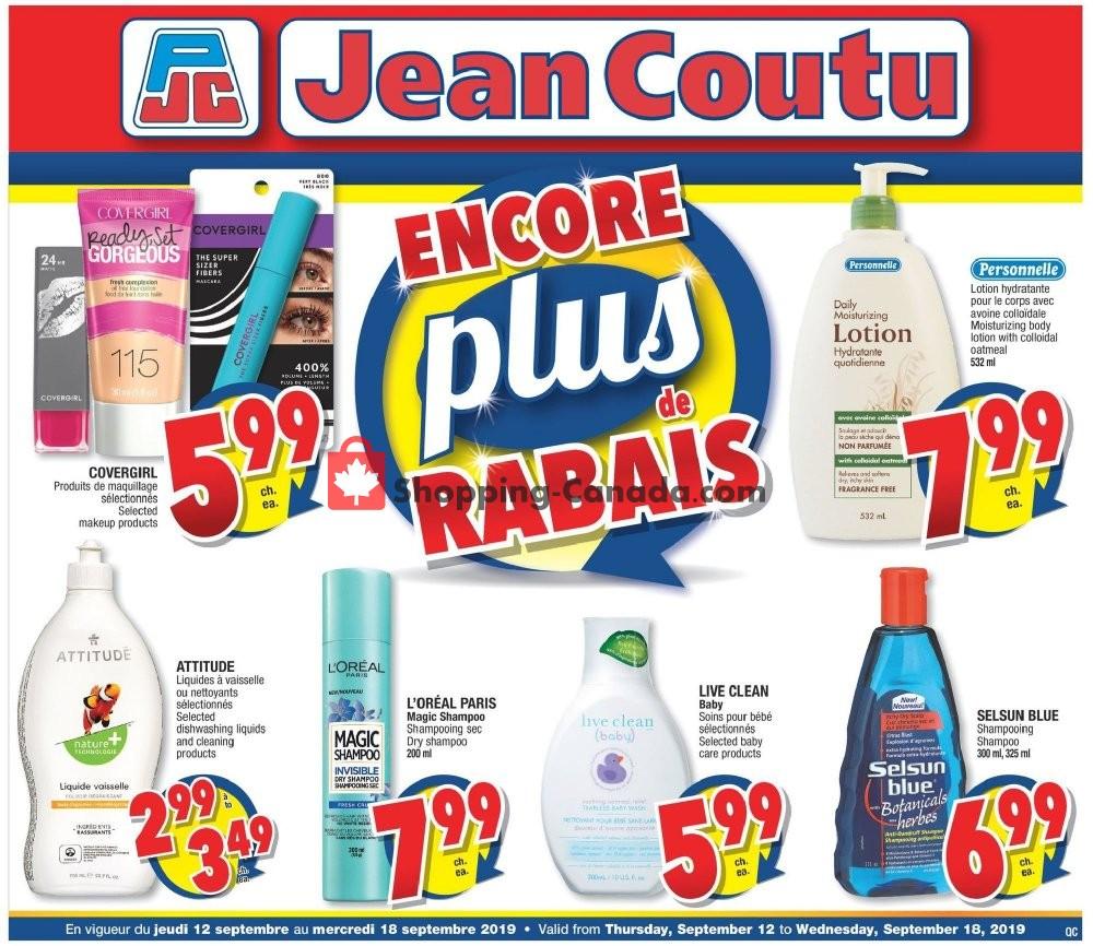 Flyer Jean Coutu Pharmacy Canada - from Thursday September 12, 2019 to Wednesday September 18, 2019