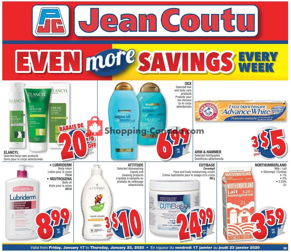 Flyer Jean Coutu Pharmacy Canada - from Friday January 17, 2020 to Thursday January 23, 2020