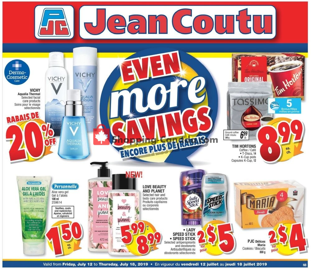 Flyer Jean Coutu Pharmacy Canada - from Friday July 12, 2019 to Thursday July 18, 2019
