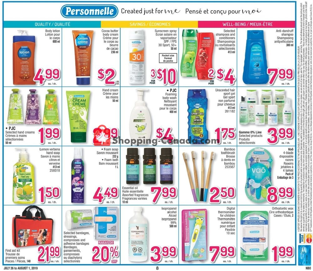 Flyer Jean Coutu Pharmacy Canada - from Friday July 26, 2019 to Thursday August 1, 2019
