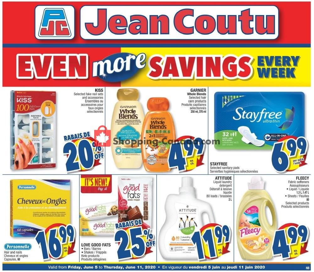 Flyer Jean Coutu Pharmacy Canada - from Friday June 5, 2020 to Thursday June 11, 2020