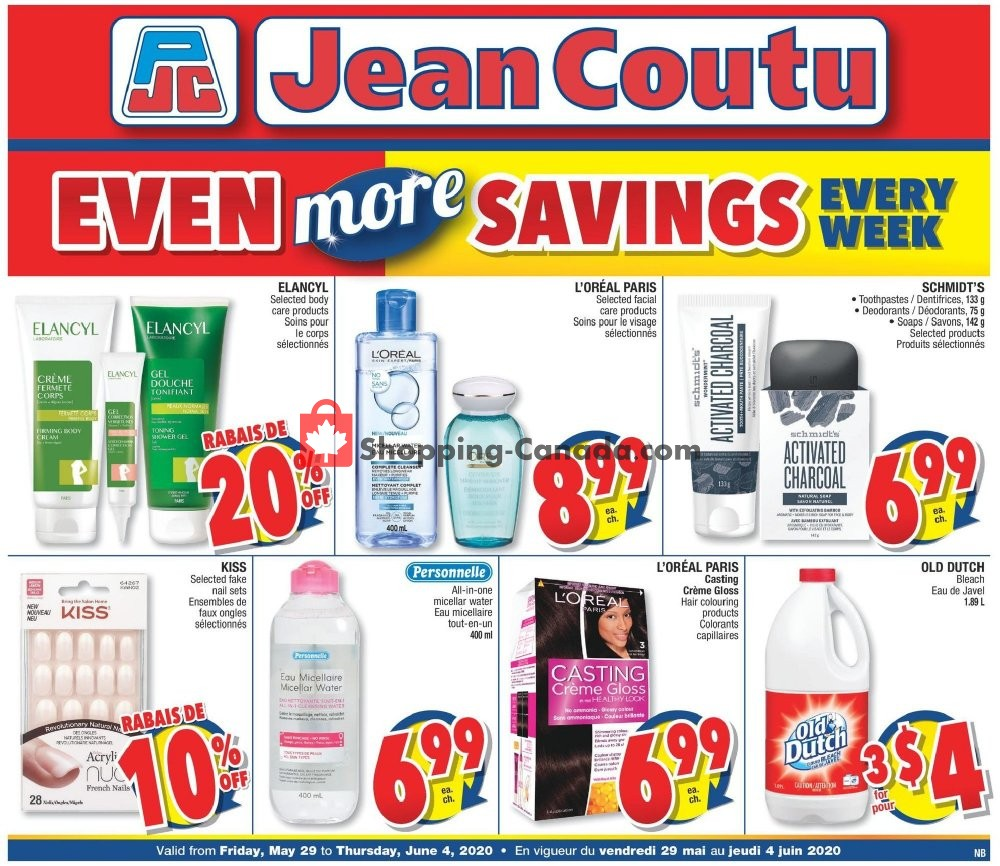 Flyer Jean Coutu Pharmacy Canada - from Friday May 29, 2020 to Thursday June 4, 2020