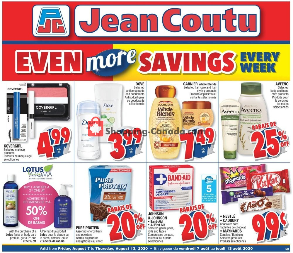 Flyer Jean Coutu Pharmacy Canada - from Friday August 7, 2020 to Thursday August 13, 2020