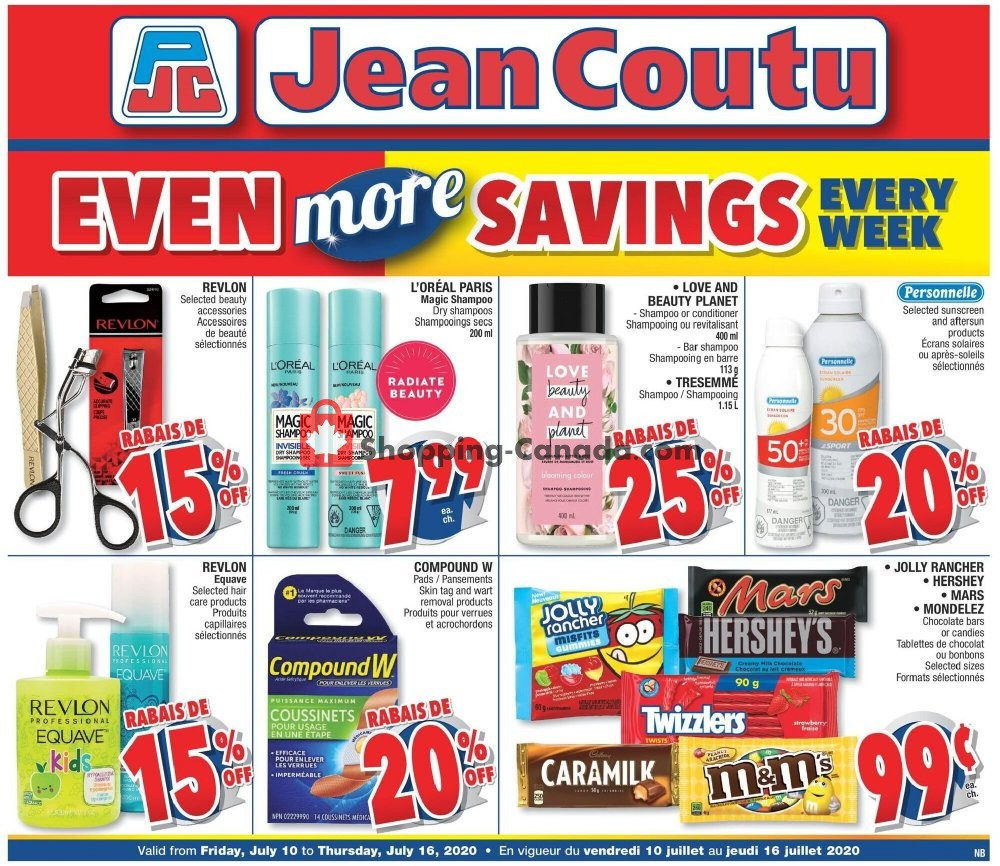 Flyer Jean Coutu Pharmacy Canada - from Friday July 10, 2020 to Thursday July 16, 2020