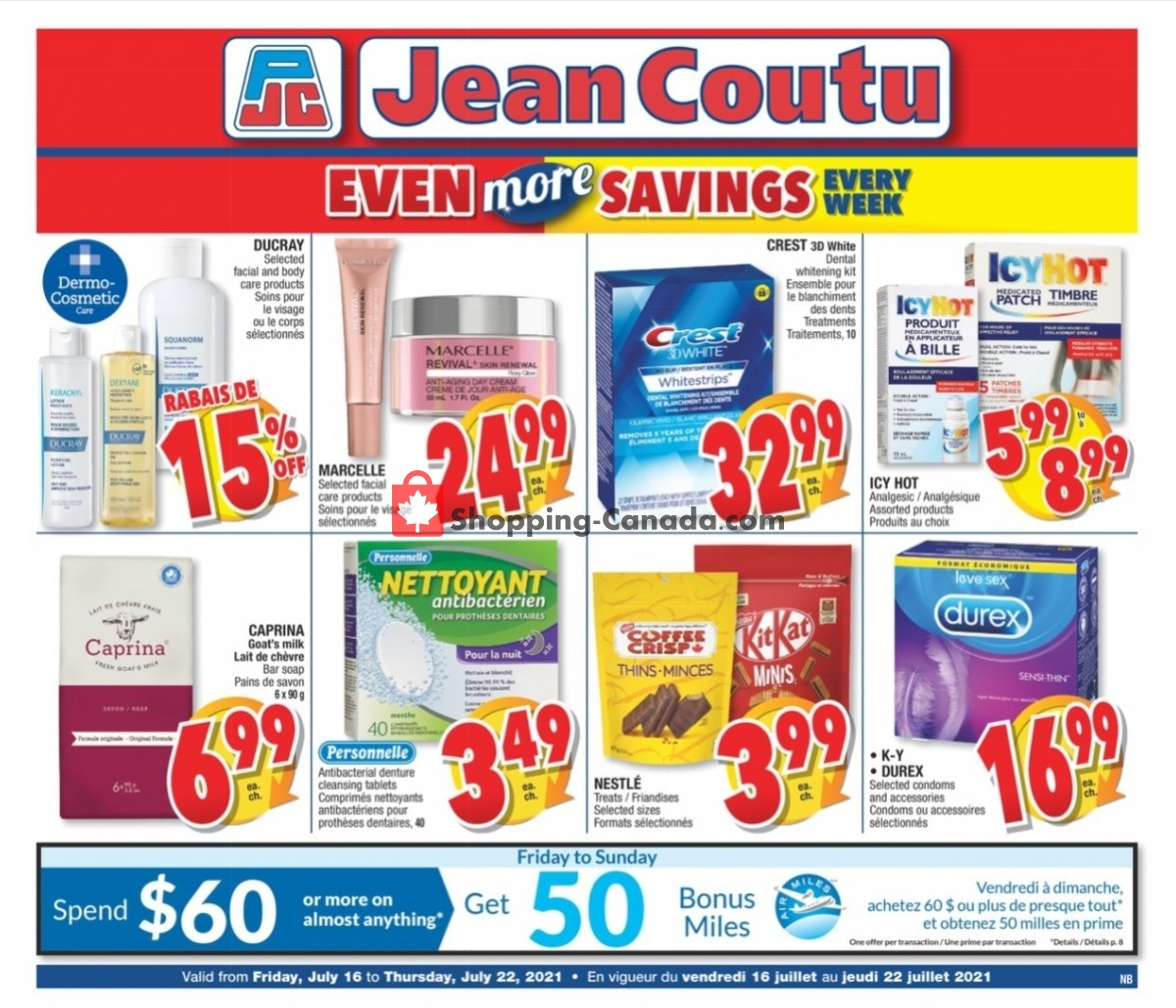 Flyer Jean Coutu Pharmacy Canada - from Friday July 16, 2021 to Thursday July 22, 2021