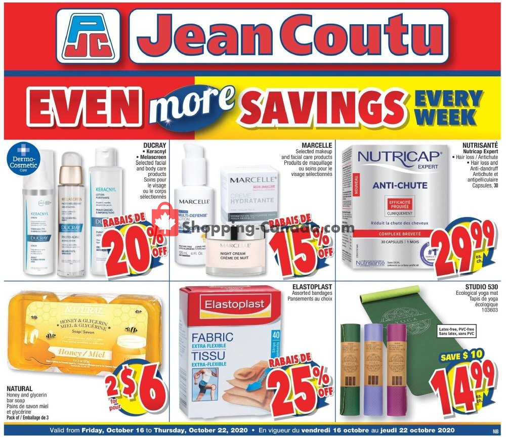 Flyer Jean Coutu Pharmacy Canada - from Friday October 16, 2020 to Thursday October 22, 2020