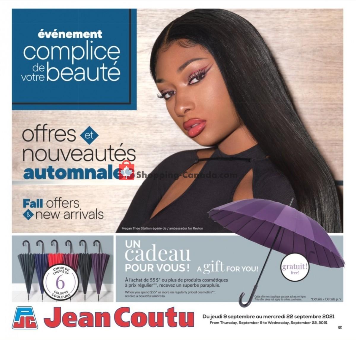 Flyer Jean Coutu Pharmacy Canada - from Thursday September 9, 2021 to Wednesday September 22, 2021