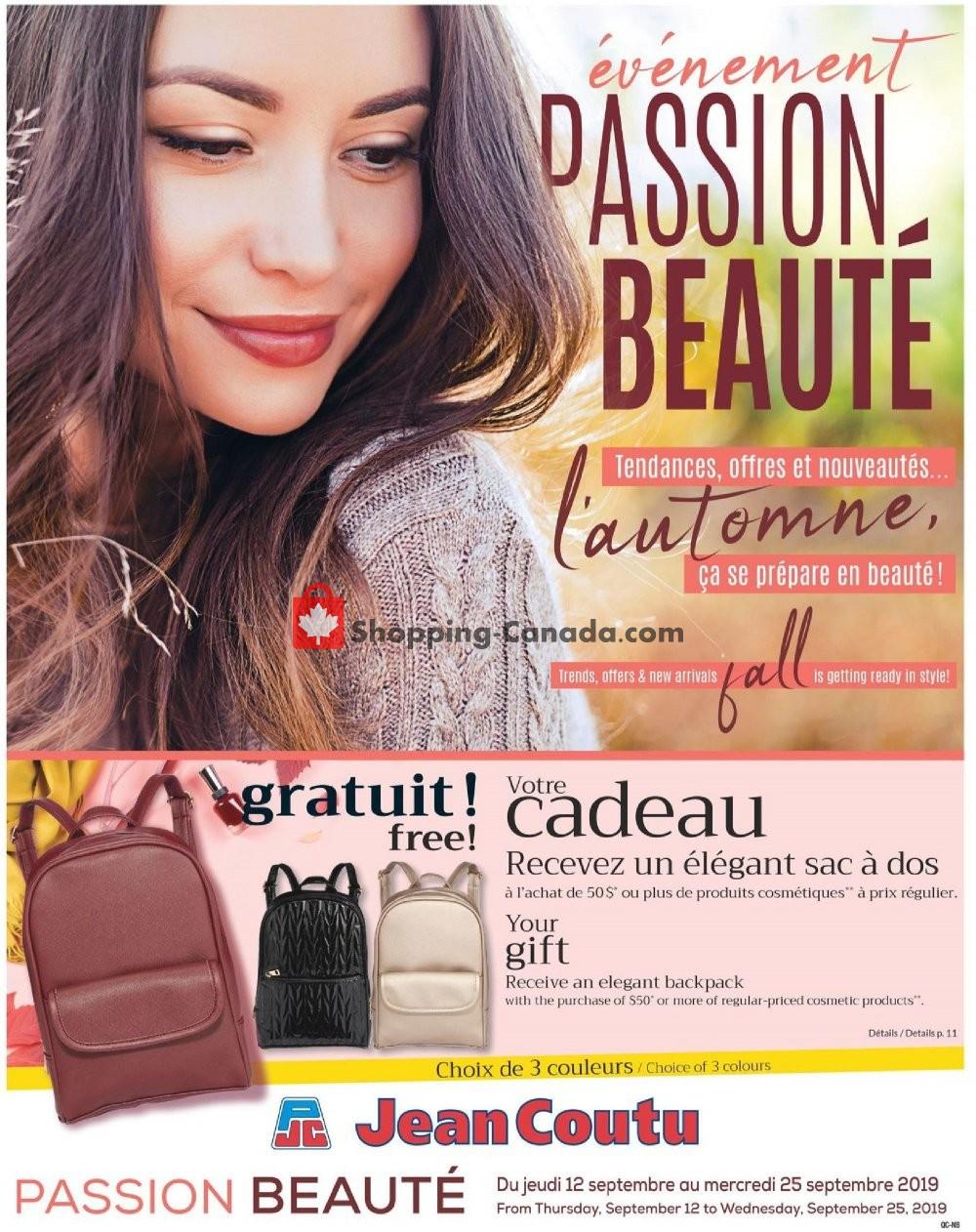 Flyer Jean Coutu Pharmacy Canada - from Thursday September 12, 2019 to Wednesday September 25, 2019