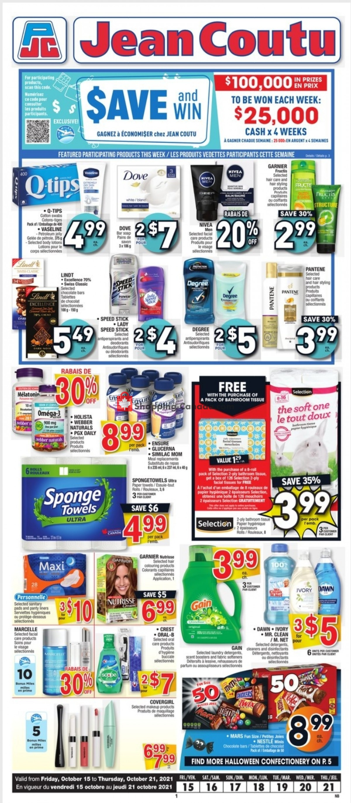 Flyer Jean Coutu Pharmacy Canada - from Friday October 15, 2021 to Thursday October 21, 2021