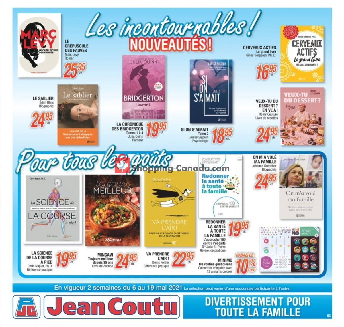 Flyer Jean Coutu Pharmacy Canada - from Thursday May 6, 2021 to Wednesday May 19, 2021