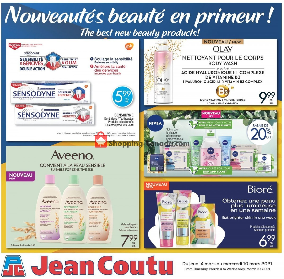 Flyer Jean Coutu Pharmacy Canada - from Thursday March 4, 2021 to Wednesday March 10, 2021