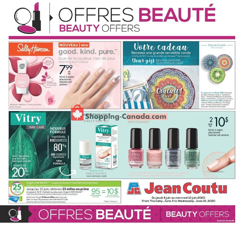 Flyer Jean Coutu Pharmacy Canada - from Thursday June 4, 2020 to Wednesday June 10, 2020