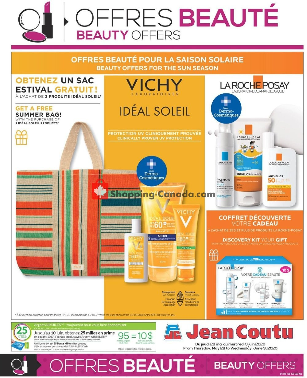 Flyer Jean Coutu Pharmacy Canada - from Thursday May 28, 2020 to Wednesday June 3, 2020