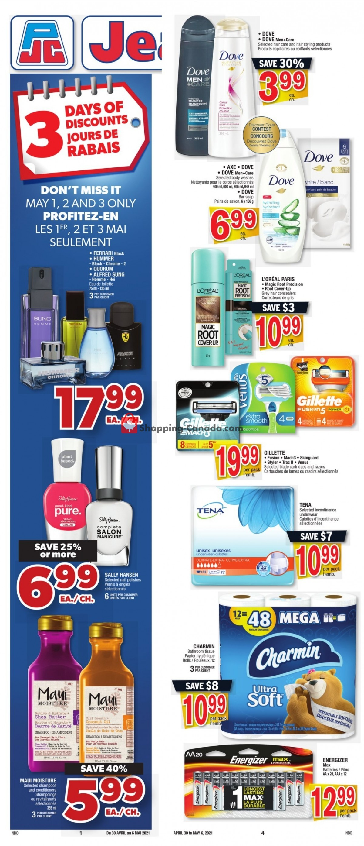 Flyer Jean Coutu Pharmacy Canada - from Friday April 30, 2021 to Thursday May 6, 2021