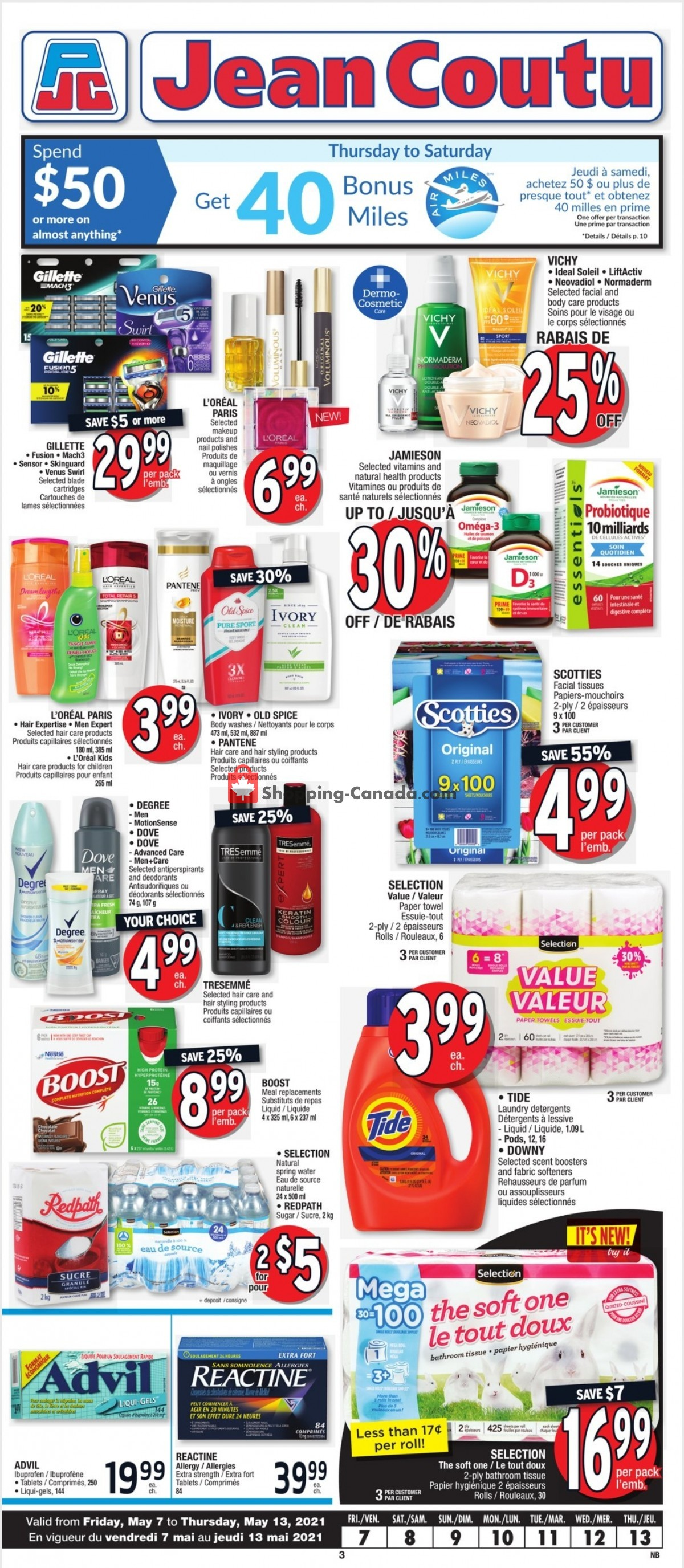 Flyer Jean Coutu Pharmacy Canada - from Friday May 7, 2021 to Thursday May 13, 2021