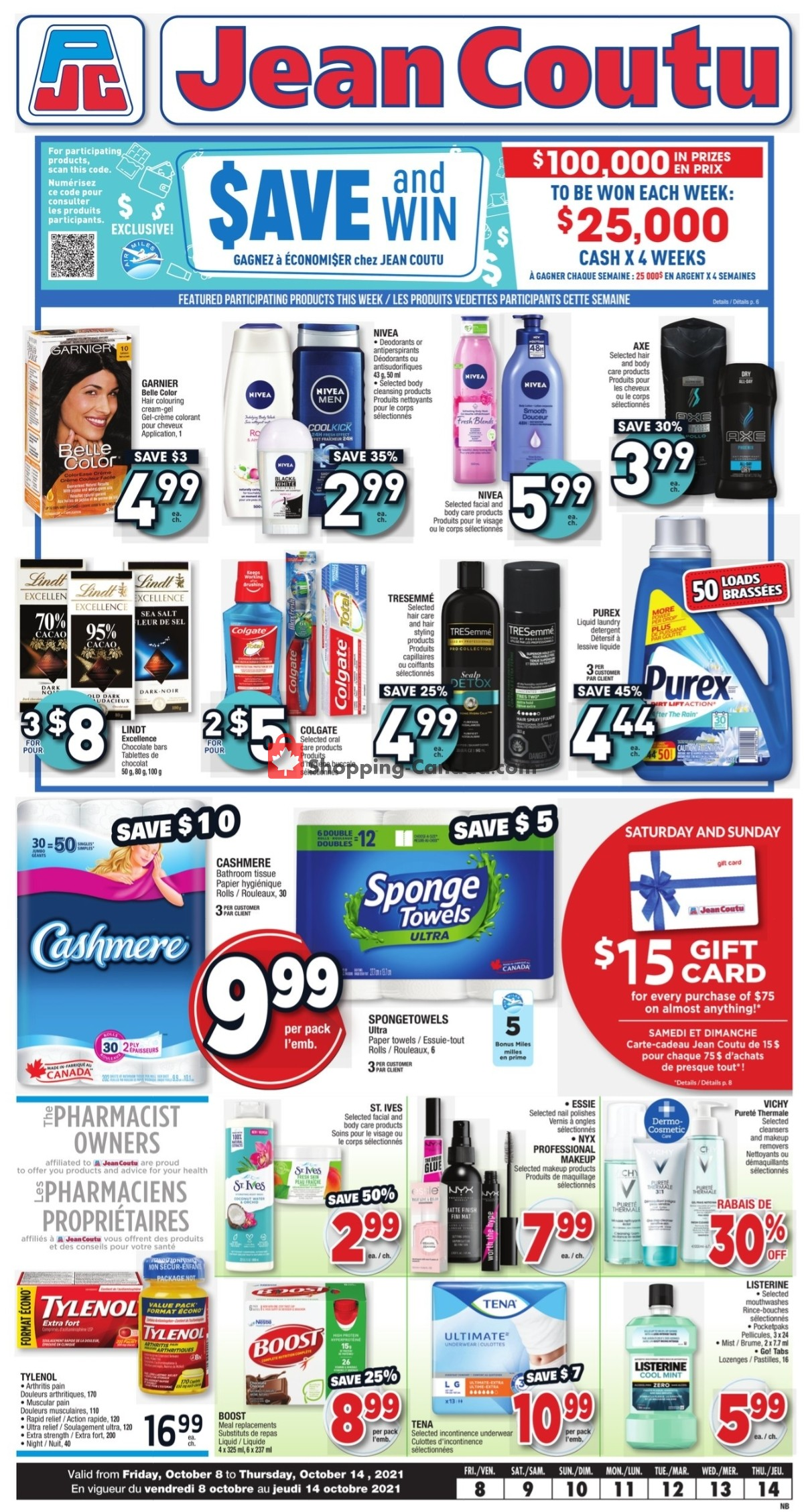 Flyer Jean Coutu Pharmacy Canada - from Friday October 8, 2021 to Thursday October 14, 2021