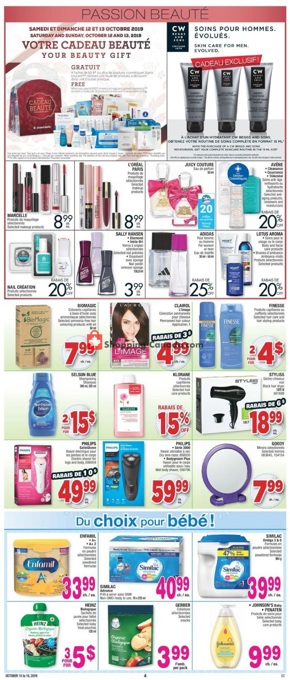 Flyer Jean Coutu Pharmacy Canada - from Thursday October 10, 2019 to Wednesday October 16, 2019