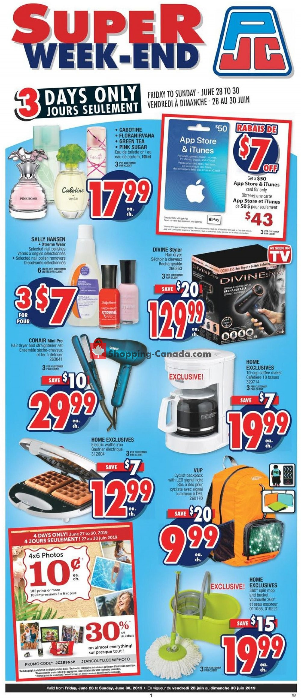 Flyer Jean Coutu Pharmacy Canada - from Friday June 28, 2019 to Sunday June 30, 2019