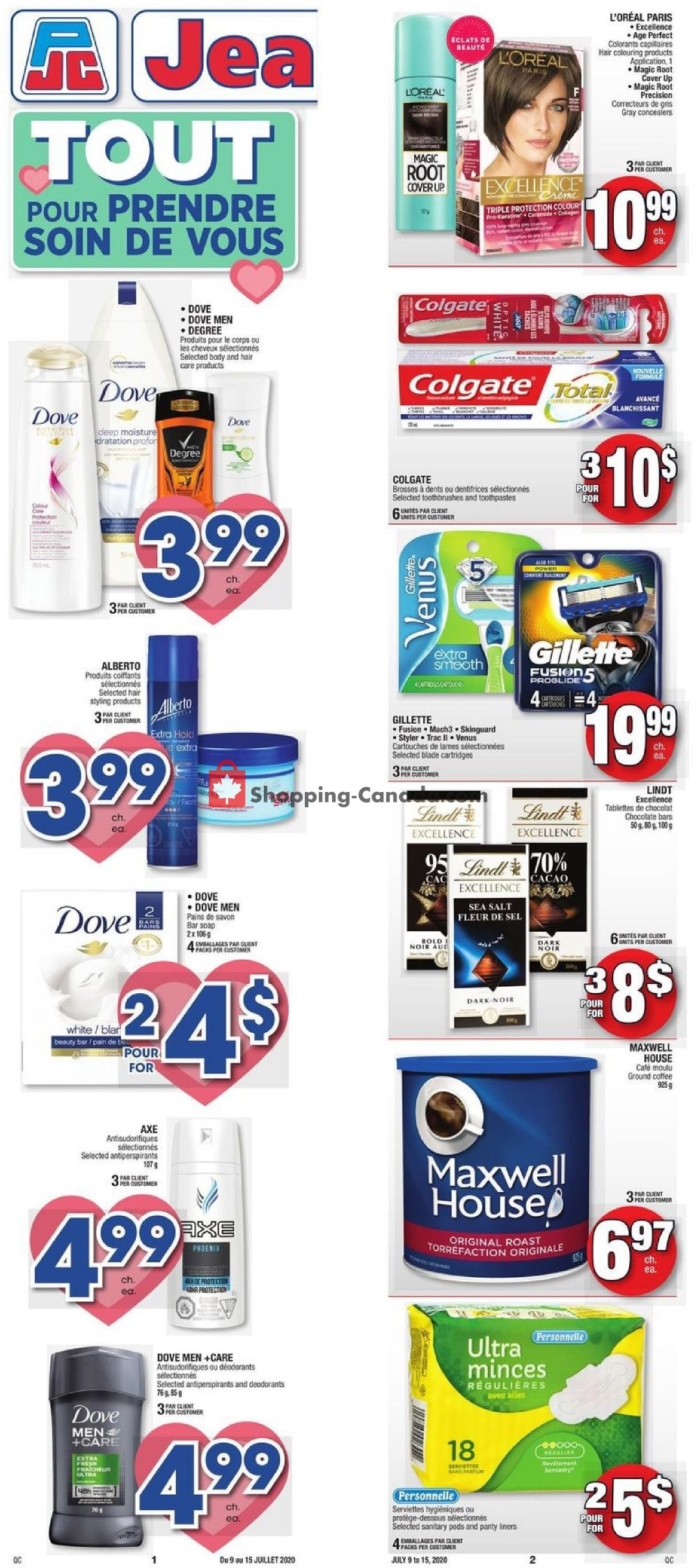 Flyer Jean Coutu Pharmacy Canada - from Thursday July 9, 2020 to Wednesday July 15, 2020