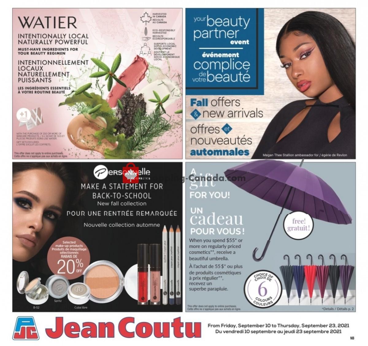 Flyer Jean Coutu Pharmacy Canada - from Friday September 10, 2021 to Thursday September 23, 2021
