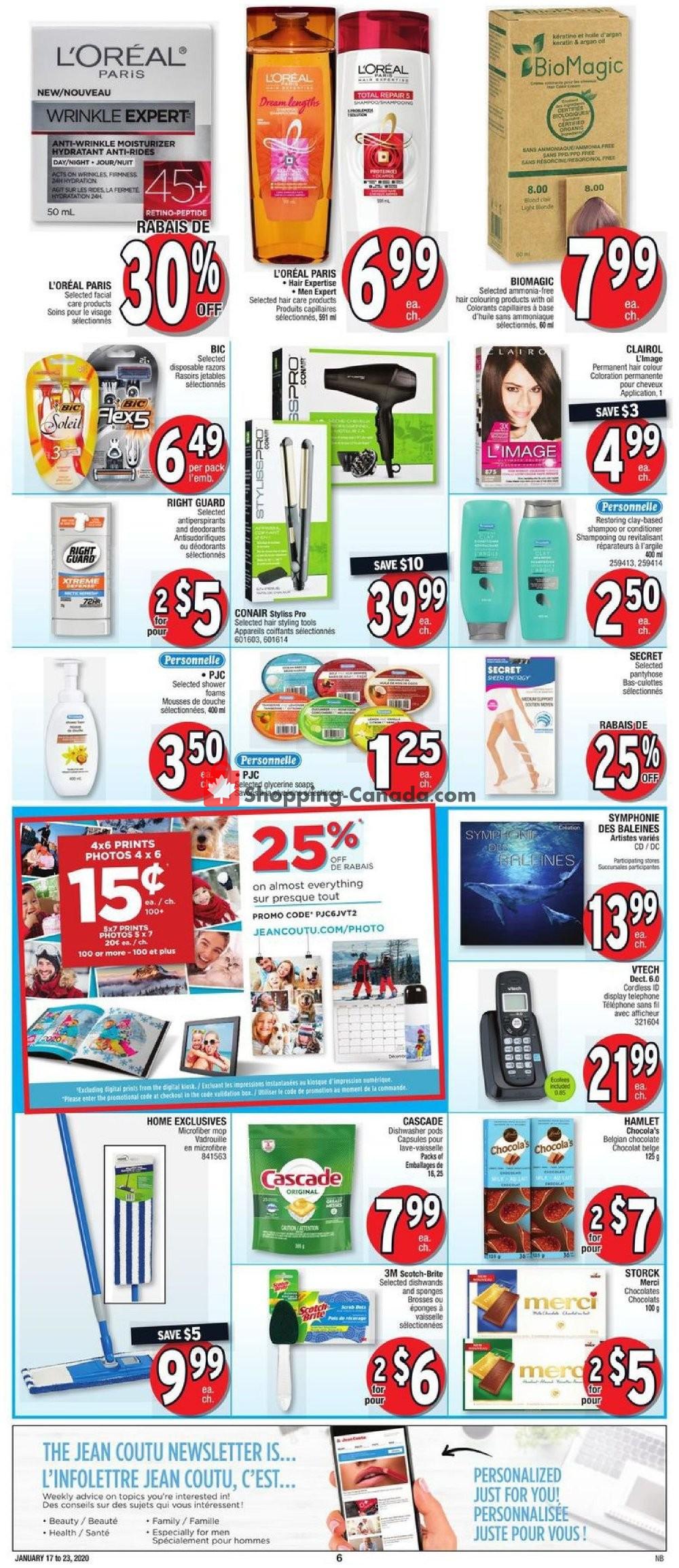 Flyer Jean Coutu Pharmacy Canada - from Friday January 17, 2020 to Thursday January 23, 2020
