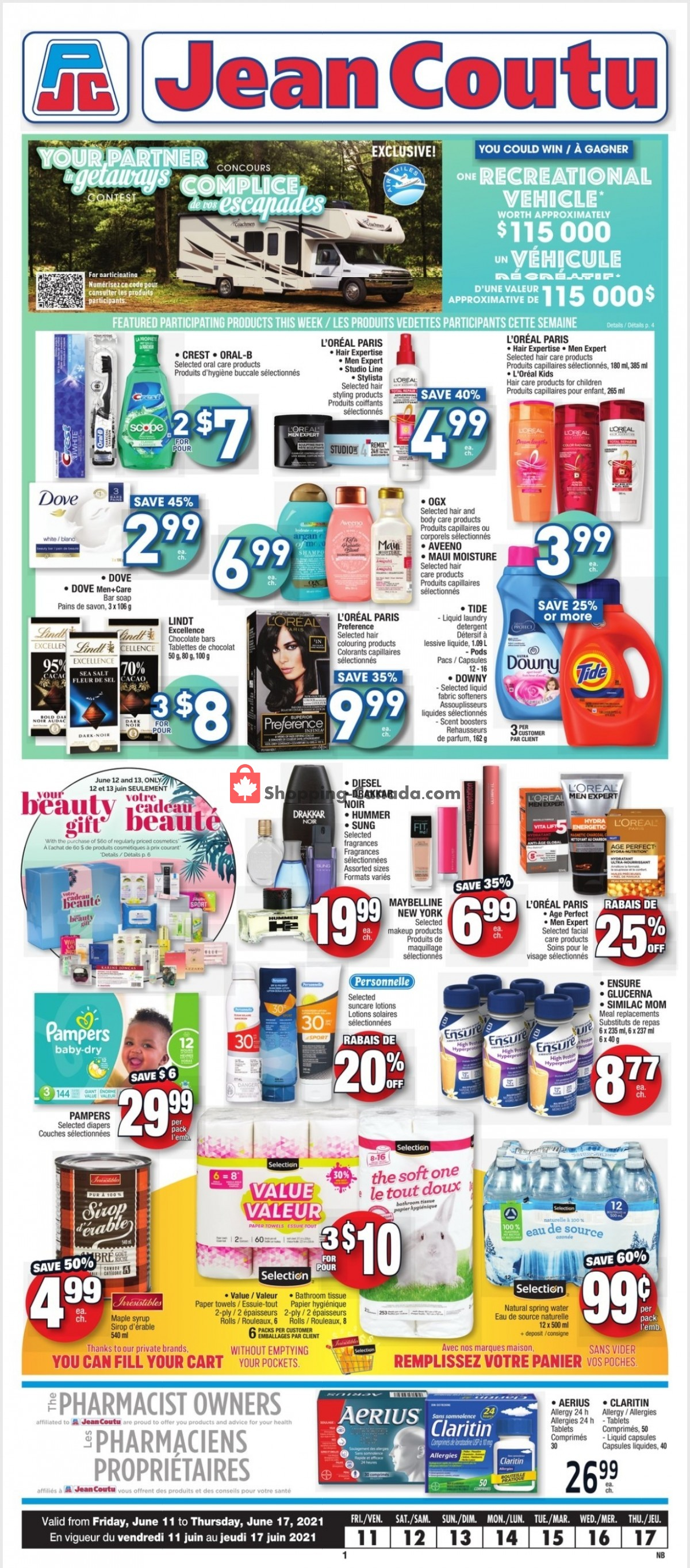 Flyer Jean Coutu Pharmacy Canada - from Friday June 11, 2021 to Thursday June 17, 2021