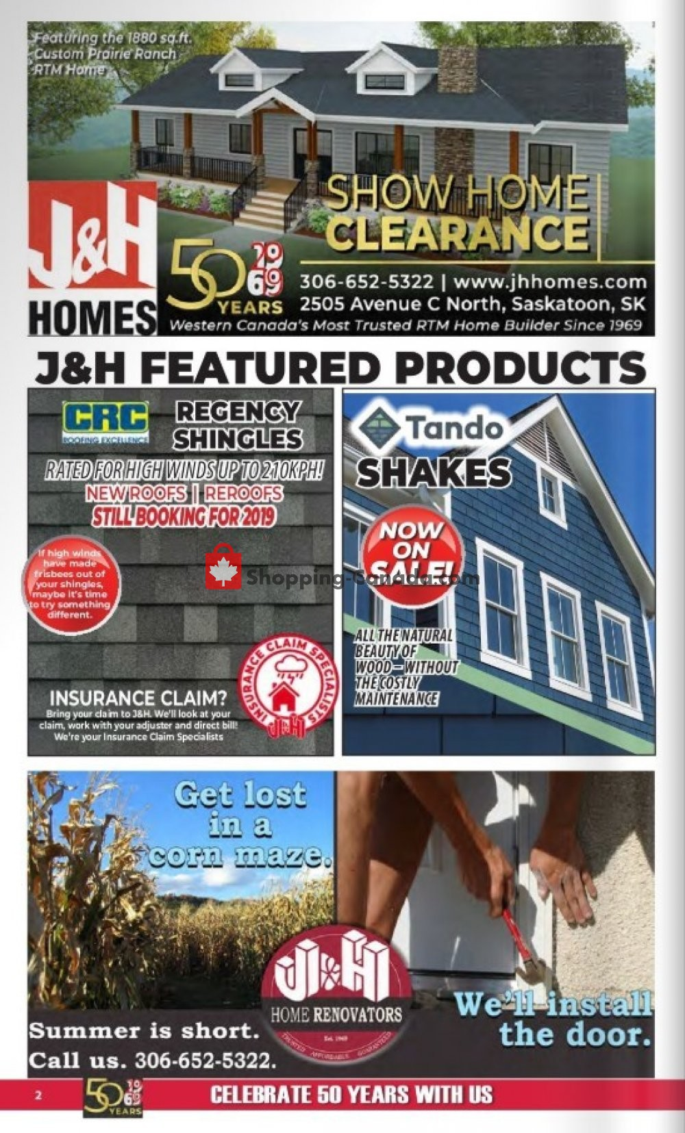 Flyer J&H Builder's Warehouse Canada - from Wednesday September 4, 2019 to Tuesday October 1, 2019