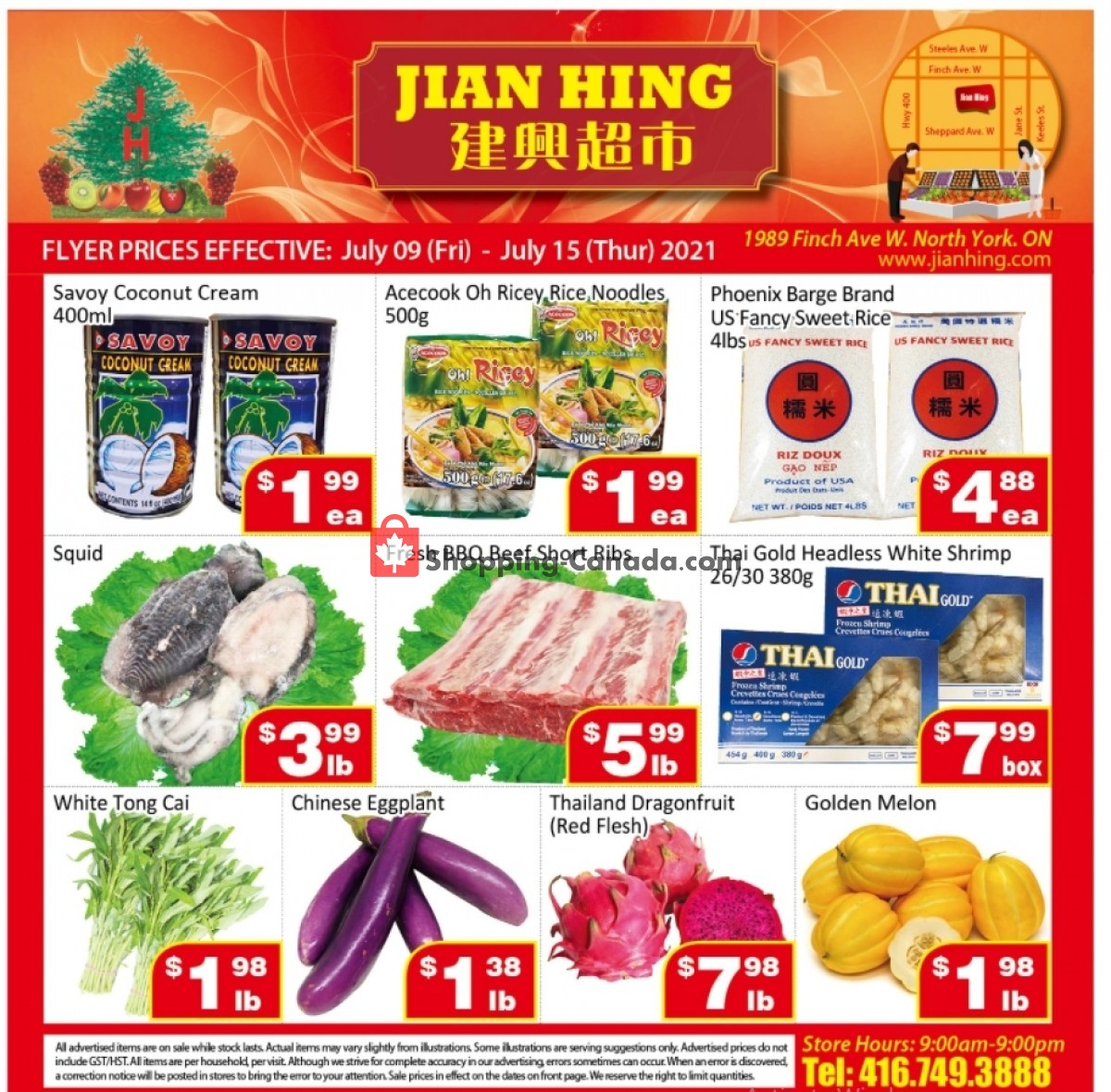 Flyer Jian Hing Supermarket Canada - from Friday July 9, 2021 to Thursday July 15, 2021