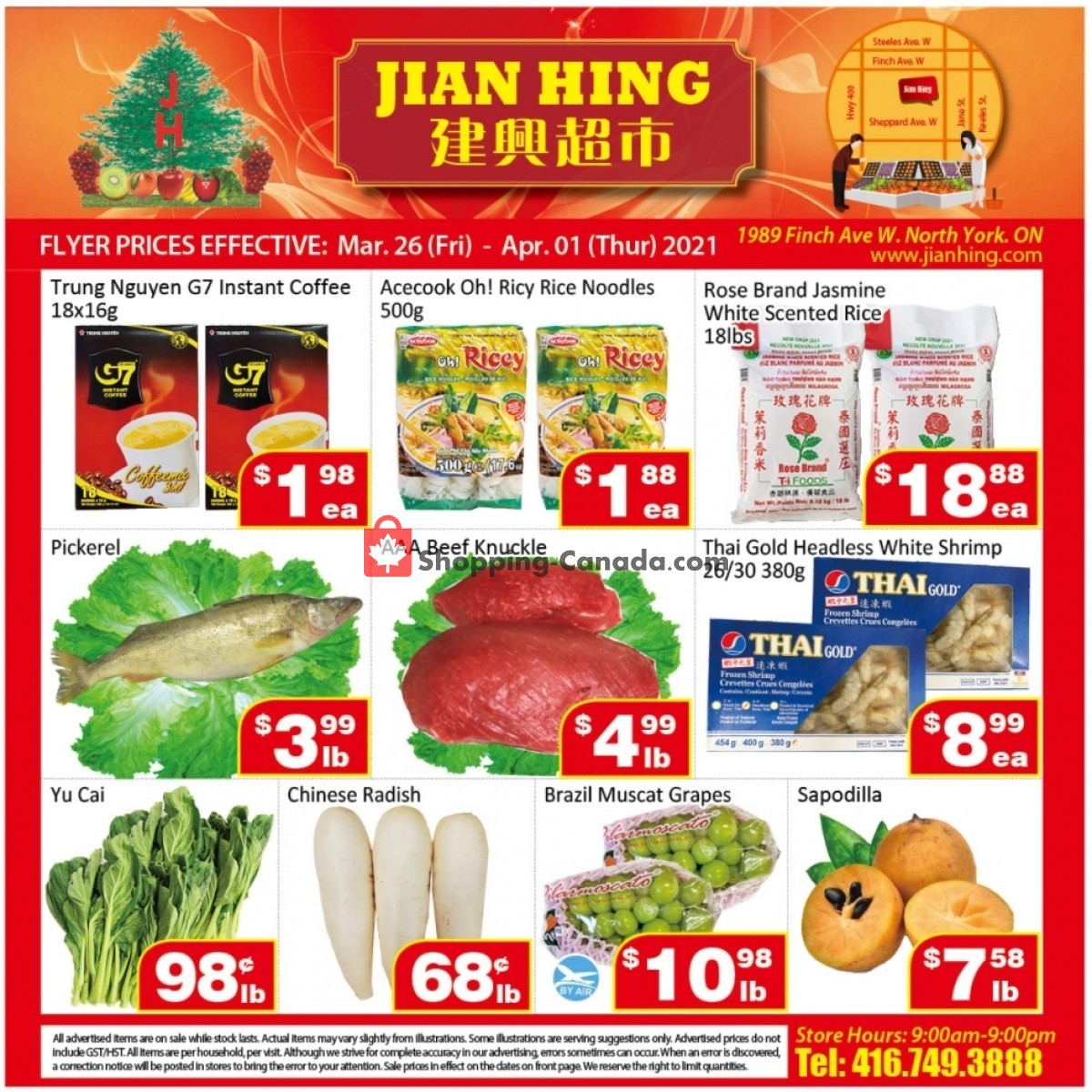Flyer Jian Hing Supermarket Canada - from Friday March 26, 2021 to Thursday April 1, 2021