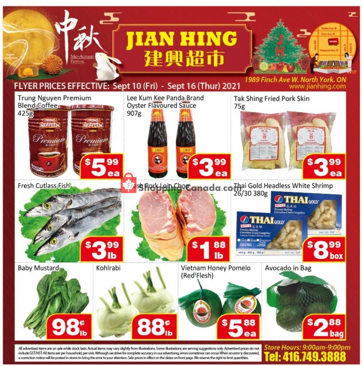 Flyer Jian Hing Supermarket Canada - from Friday September 10, 2021 to Thursday September 16, 2021