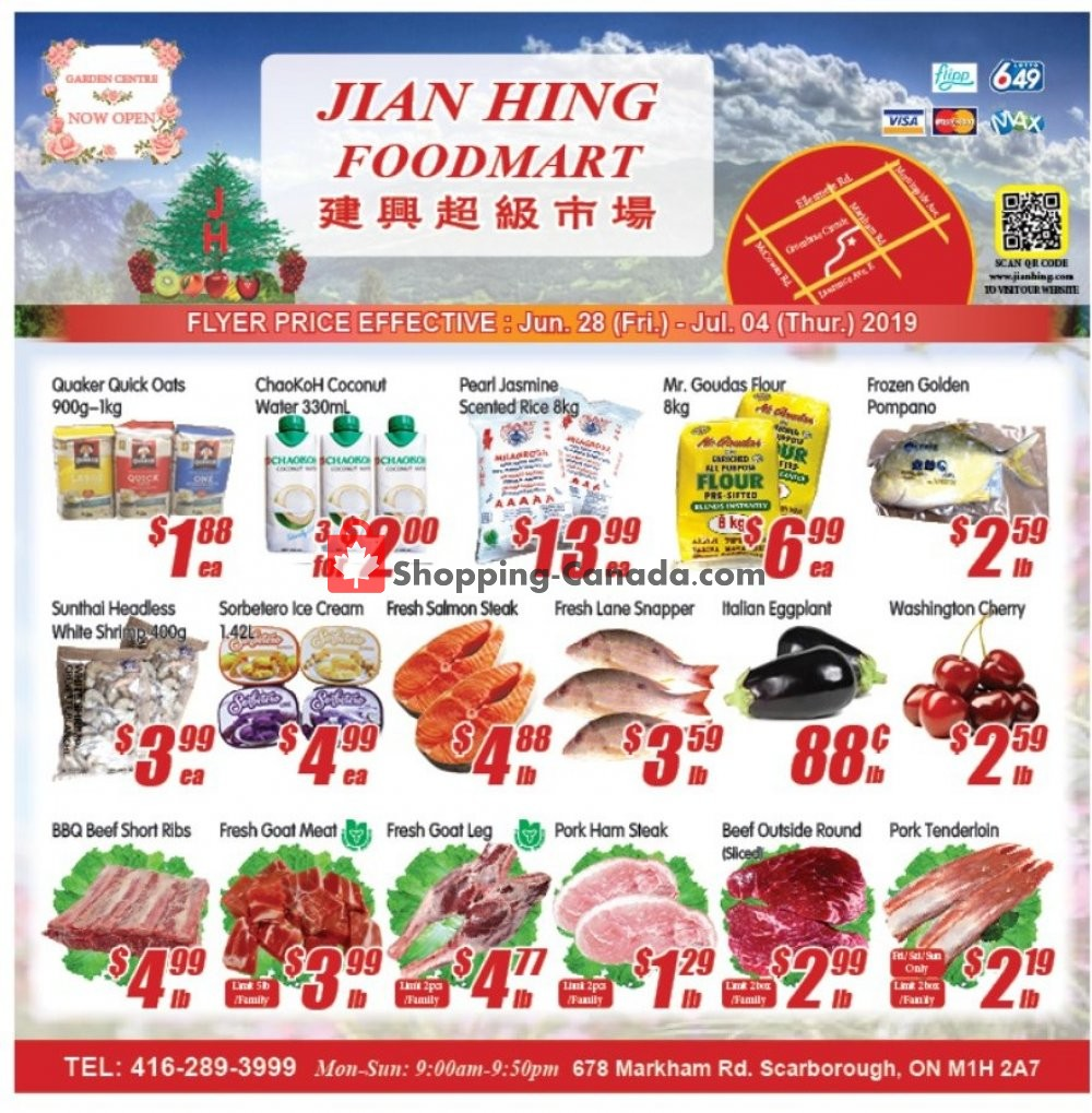 Flyer Jian Hing Supermarket Canada - from Friday June 28, 2019 to Thursday July 4, 2019