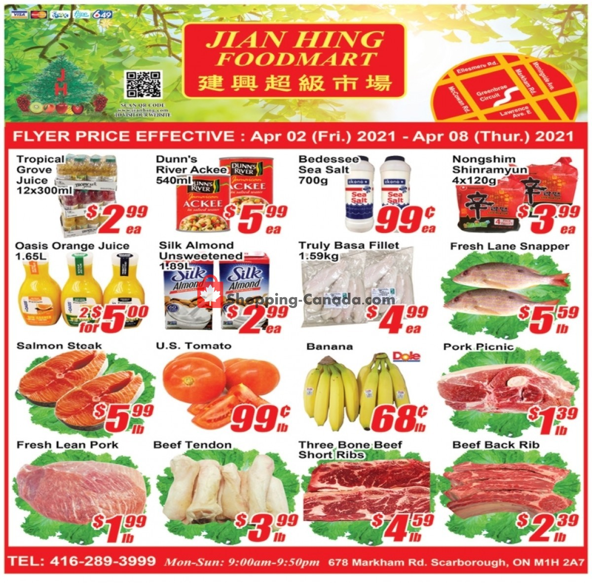 Flyer Jian Hing Supermarket Canada - from Friday April 2, 2021 to Thursday April 8, 2021