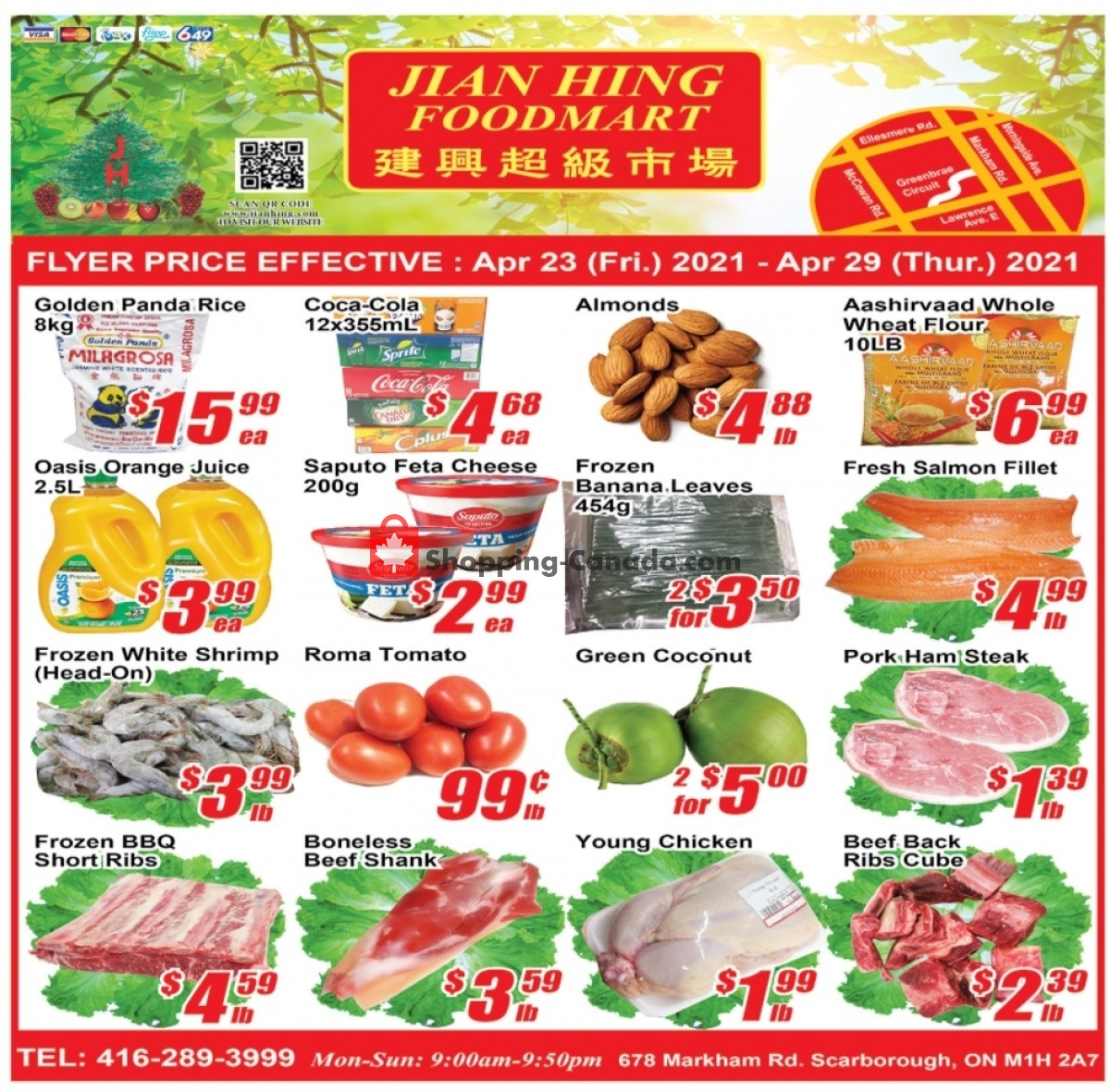 Flyer Jian Hing Supermarket Canada - from Friday April 23, 2021 to Thursday April 29, 2021