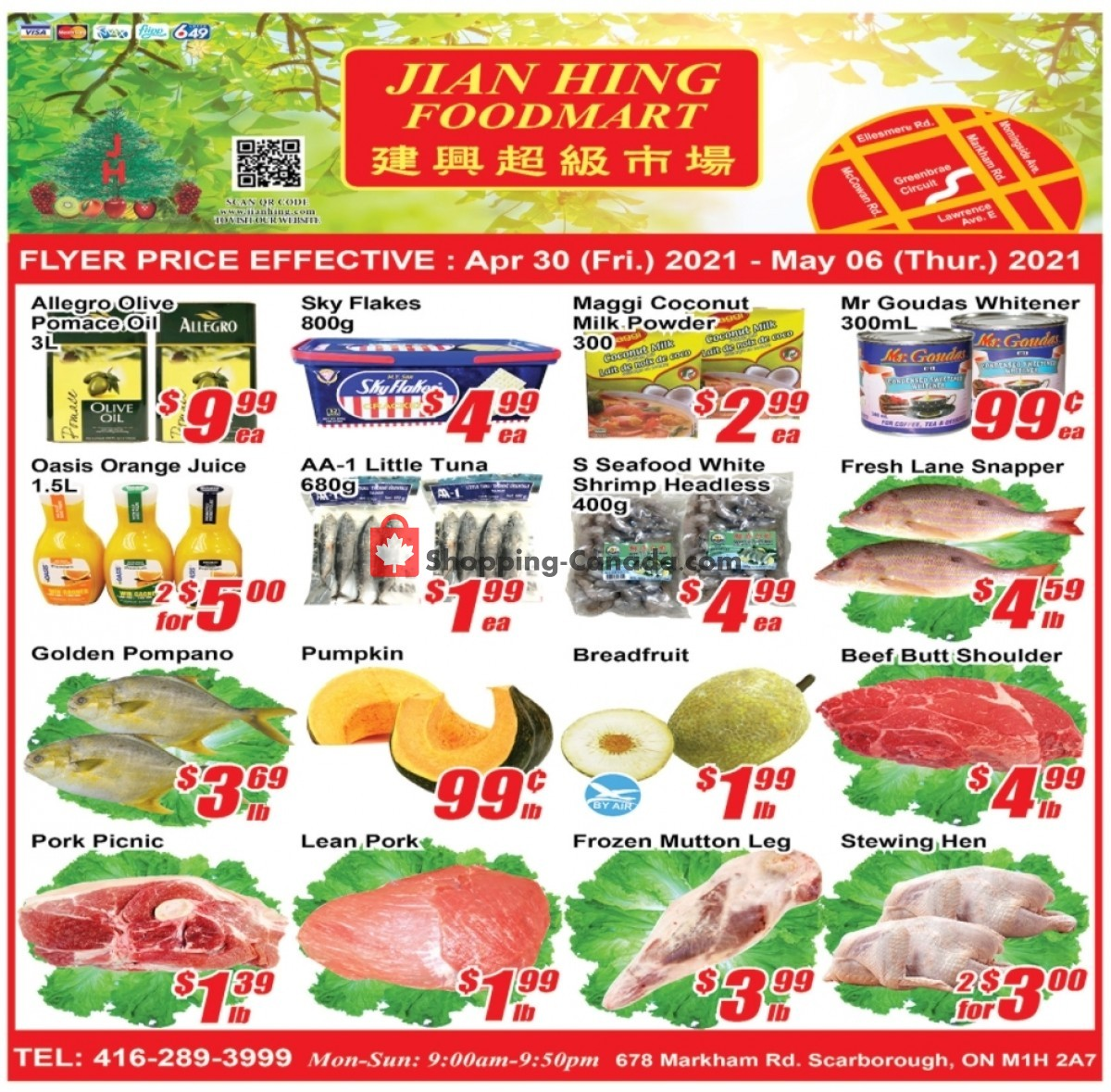 Flyer Jian Hing Supermarket Canada - from Friday April 30, 2021 to Thursday May 6, 2021