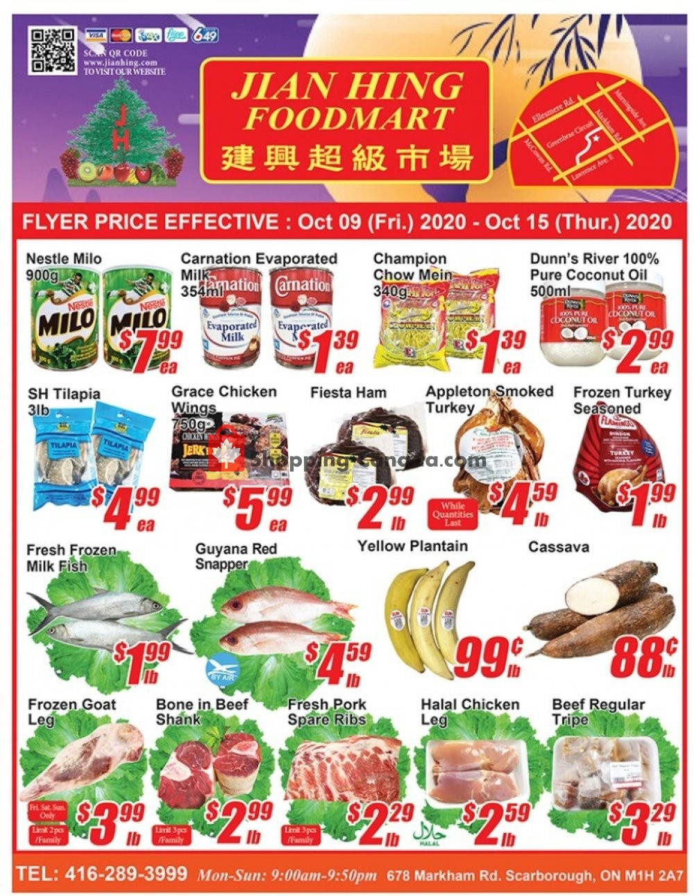 Flyer Jian Hing Supermarket Canada - from Friday October 9, 2020 to Thursday October 15, 2020