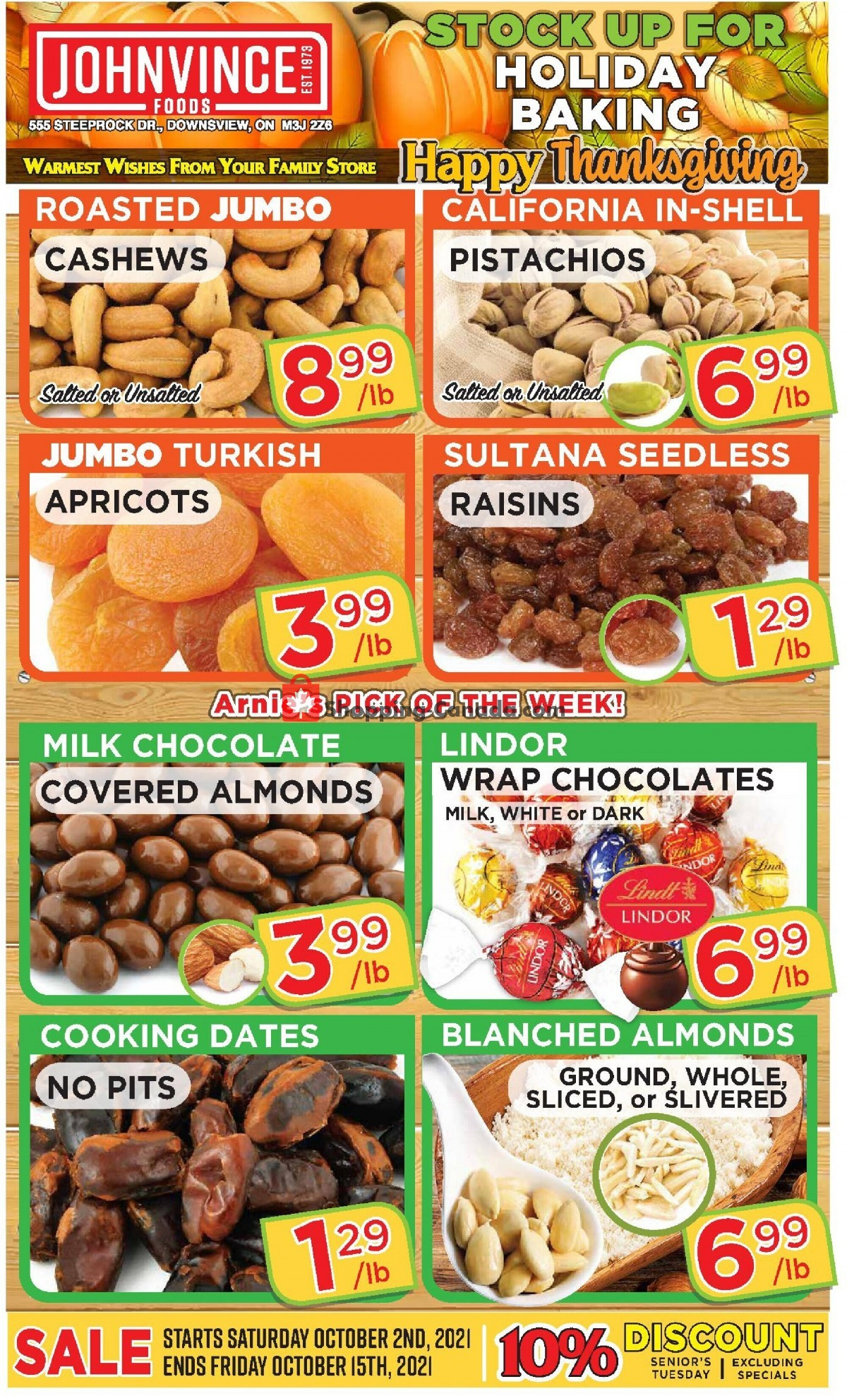 Flyer Johnvince Foods Canada - from Saturday October 2, 2021 to Friday October 15, 2021