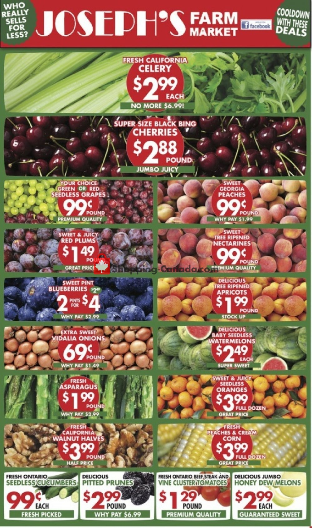 Flyer Joseph's Farm Market Canada - from Wednesday June 26, 2019 to Monday July 1, 2019
