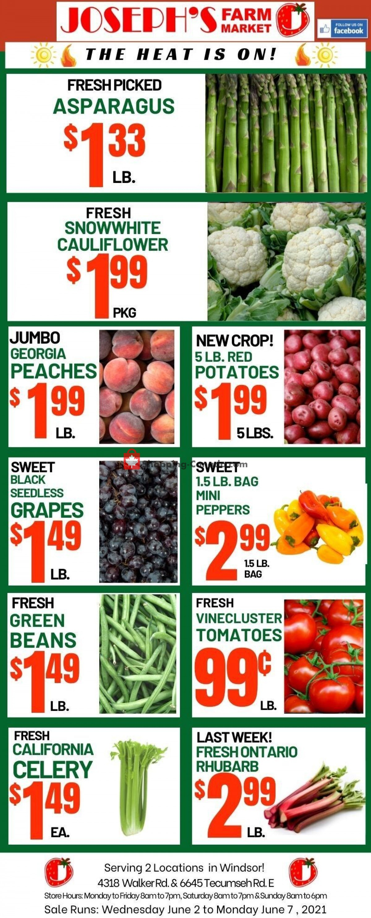 Flyer Joseph's Farm Market Canada - from Wednesday June 2, 2021 to Monday June 7, 2021
