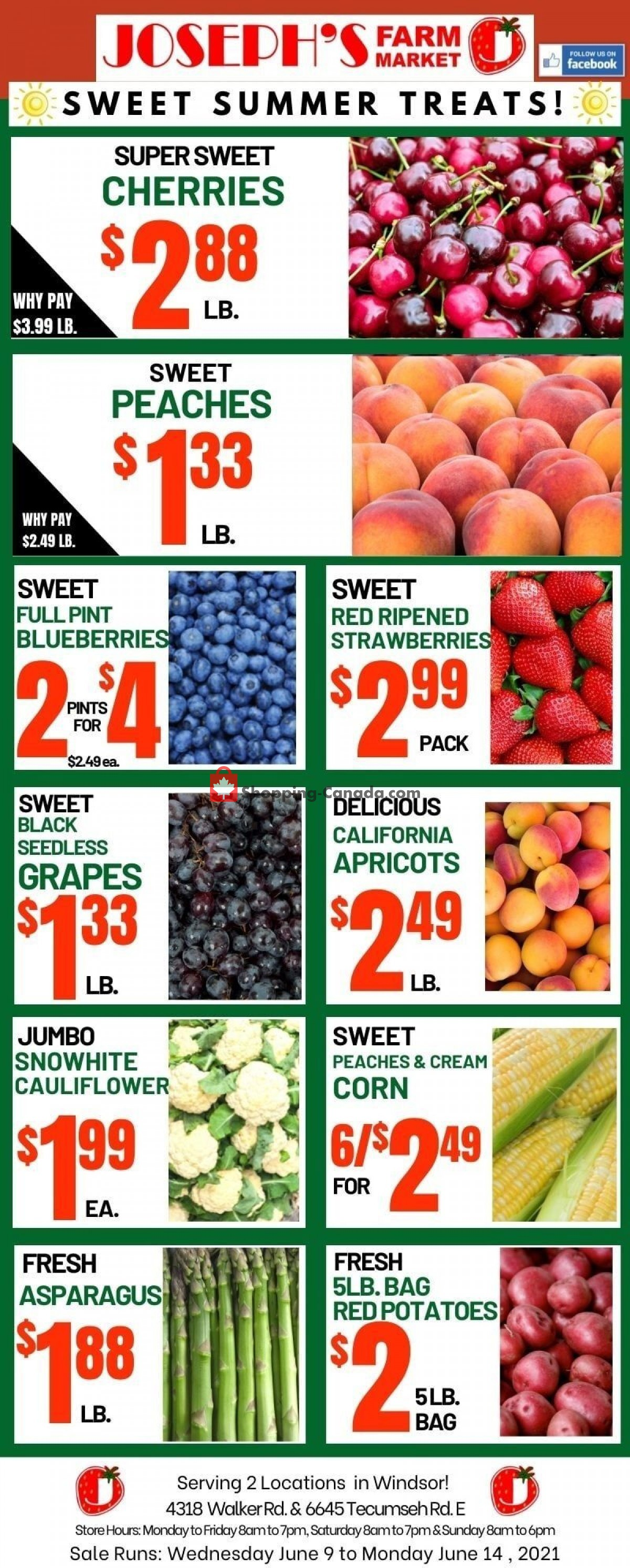 Flyer Joseph's Farm Market Canada - from Wednesday June 9, 2021 to Monday June 14, 2021