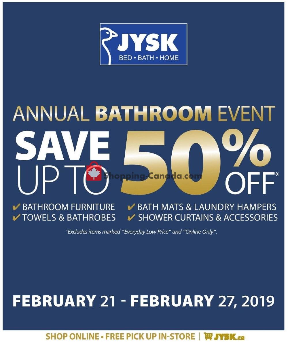 Flyer JYSK Canada - from Thursday February 21, 2019 to Wednesday February 27, 2019