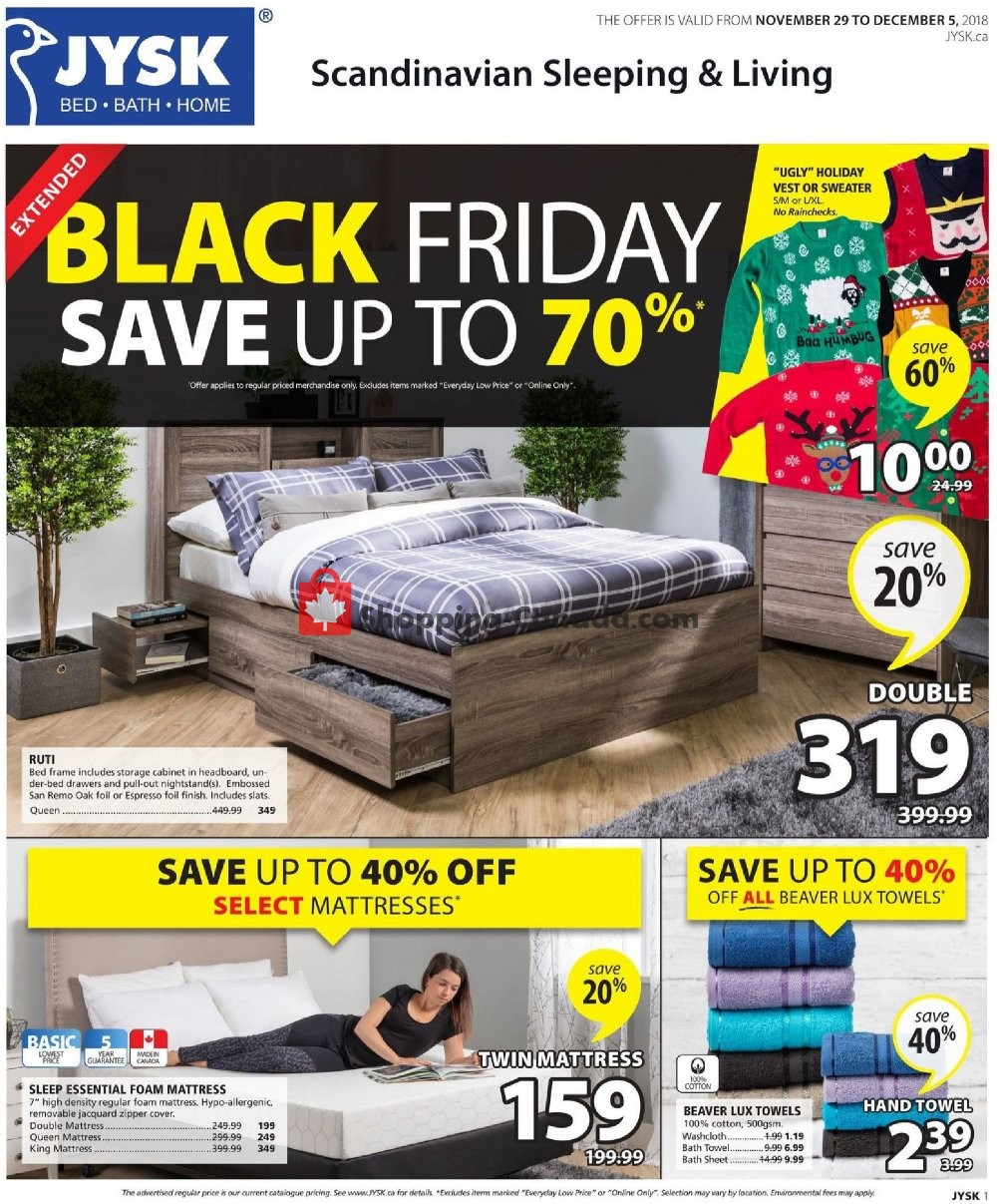 Jysk Canada Flyer Black Friday