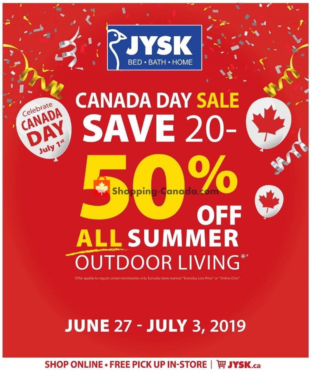Flyer JYSK Canada - from Thursday June 27, 2019 to Wednesday July 3, 2019