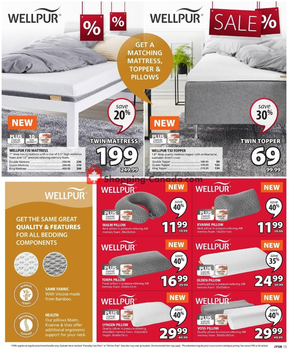 Flyer JYSK Canada - from Thursday July 11, 2019 to Wednesday July 17, 2019