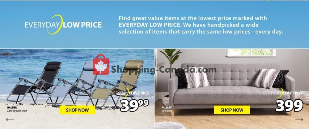 Flyer JYSK Canada - from Monday May 18, 2020 to Sunday May 24, 2020