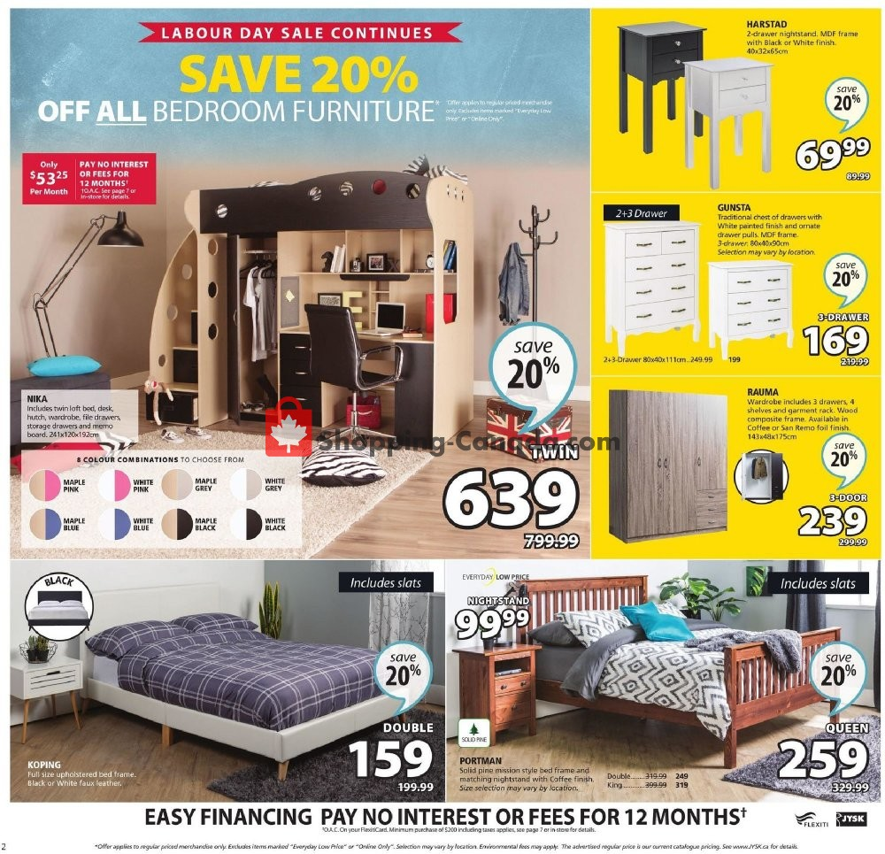 Flyer JYSK Canada - from Thursday September 5, 2019 to Wednesday September 11, 2019